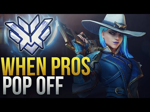WHEN PROS ARE POPPING OFF  - Overwatch Montage