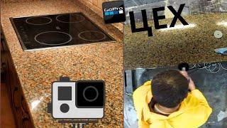 видео Преимущества гранитных и мраморных столешниц
