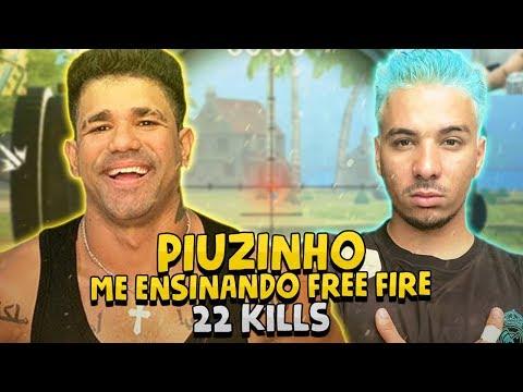 PIUZINHO ME ENSINANDO FREE FIRE - 22 KILLS