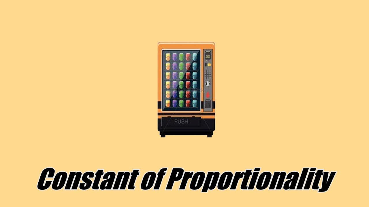 medium resolution of Constant of Proportionality - Real World Math with a Vending Machine - 7.RP.A.2  - YouTube