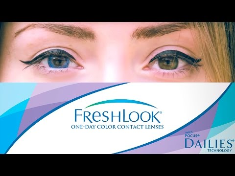 Цветные линзы для карих глаз. Контактные линзы Fresh look ColorBlends True Sapphire/ ВЫПУСК №1