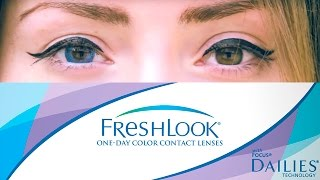 Цветные линзы для карих глаз. Контактные линзы Fresh look ColorBlends True Sapphire/ ВЫПУСК №1(, 2015-06-01T16:12:05.000Z)