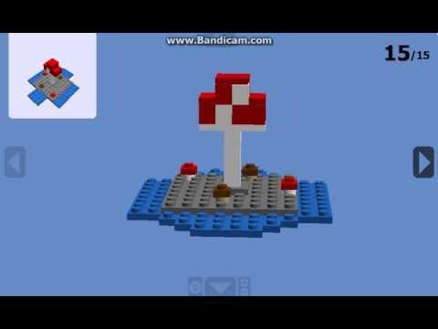 Lego Minecraft : Mushroom Island (3D build) - YouTube