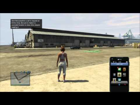 Grand Theft Auto Online: Merryweather Call: Ammunition Delivery Service Unlocked Ammo Drop Demoed