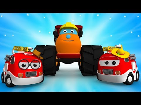 Little Fire Truck Car Finger Family | Monster Truck 3D Cartoon Songs & Rhymes for Kids