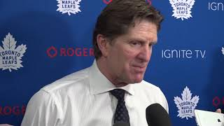 Maple Leafs Post-Game: Mike Babcock - December 11, 2018