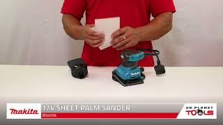 Makita BO4556 1/4 Sheet Palm Sander with Dust Bag | UK Planet Tools