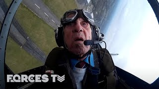 WW2 Spitfire Pilot Returns To The Skies On RAF 100 | Forces TV