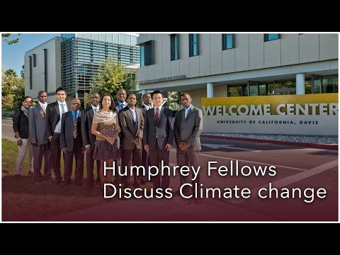 Humphrey Fellows Discuss Climate Change