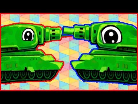 Awesome Tanks 2 Эпическое сражение танков мультик игра для детей от Фаника