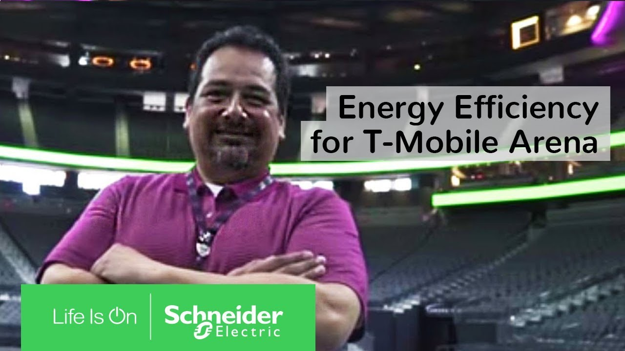 Iot Ecostruxure Energy Efficiency For T Mobile Arena Schneider