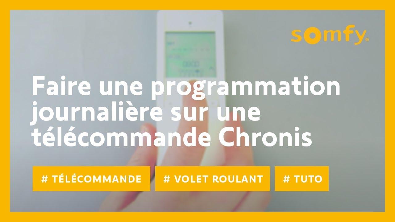 Programmation volet roulant somfy chronis rts - Programmation volet roulant somfy ...