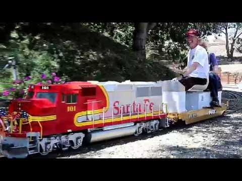 Riding On Gigantic Model Trains