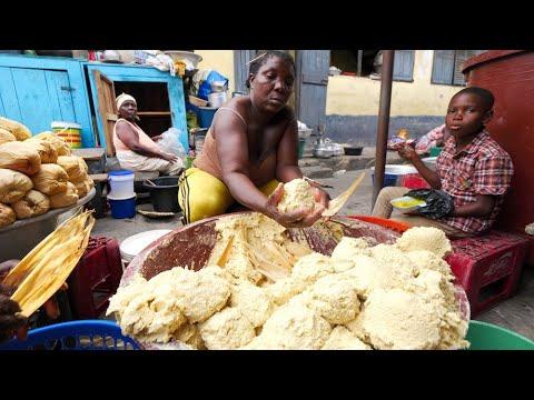 Traditional GHANA STREET FOOD!! Kenkey & Fish + Jamestown Attractions | Accra, Ghana