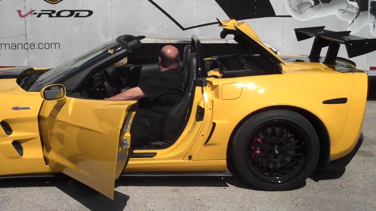 C6 Corvette Convertible Bolt In Roll Bar 4 Point