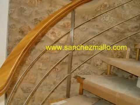 Ref B018 Barandilla Escalera Inox Madera wwsanchezmallocom YouTube