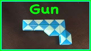 Rubik's Twist or Smiggle Snake Puzzle Tutorial: How to Make a Gun or Pistol: Step by Step Tutorial