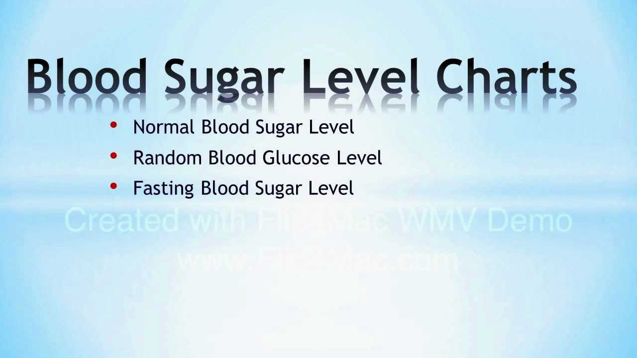 3 Key Blood Sugar Level Charts