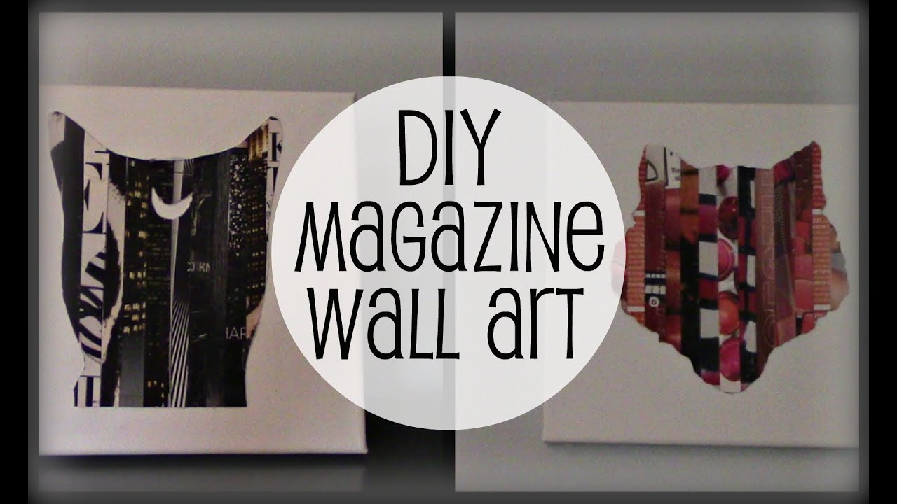 DIY Magazine Wall Art - YouTube