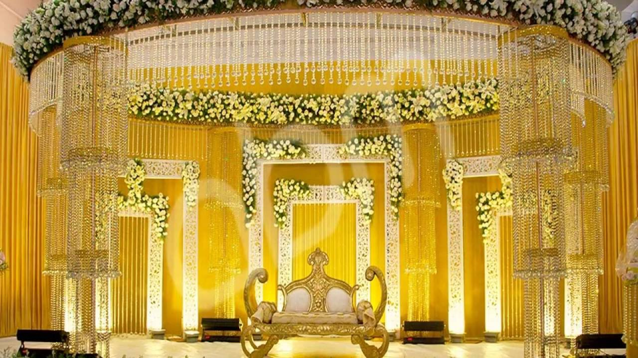 Stage decor ideas at banquet halls in bangalore youtube for Wedding hall decoration items