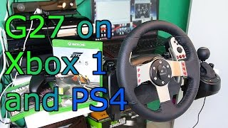 Logitech G27 on PS4 and Xbox ONE - How to and Forza 5 Gameplay - Titan ONE [HD]