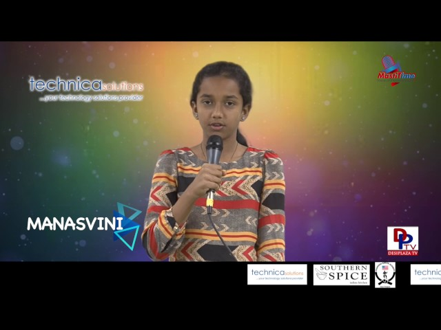 "Manasvini speaking about ""Plants have feelings too"" in Talking Bee competitions 2016"