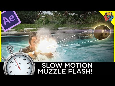 Slow Motion Muzzle Flash -  After Effects Tutorial