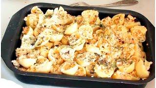 Фаршированные макароны ракушки видео рецепт
