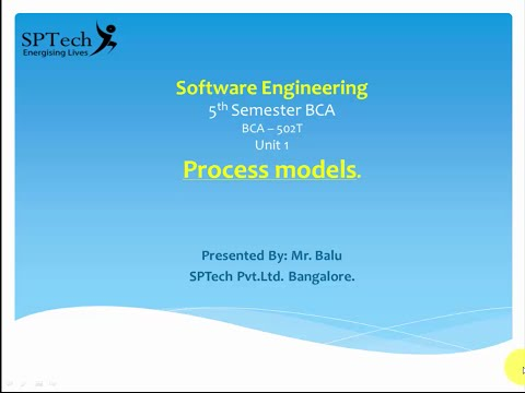 Introduction to Software Engineering - Process Models