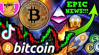 EPIC NEWS!! BITCOIN MASS ADOPTION NOW! TikTok PUMPS DOGE!!! BTC LIGHTNING 🚀
