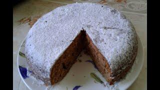 Кекс шоколадный с творогом и изюмом в мультиварке