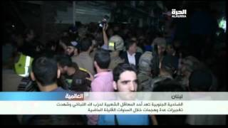 قتلى وجرحى في هجومين انتحاريين في برج البراجنة بضاحية بيروت الجنوبية