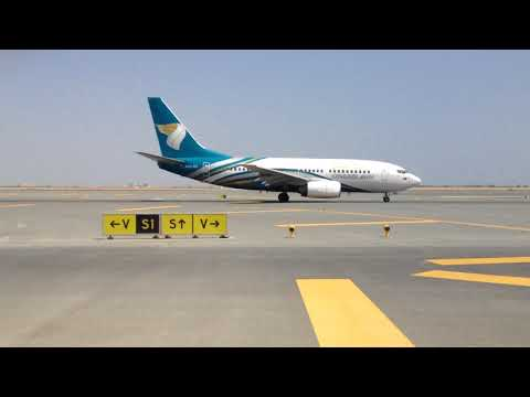 OMAN AIR TAKE OFF FROM MUSCAT AIRPORT