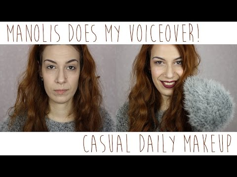 MANOLIS DOES MY VOICEOVER ● Το καθημερινό μου μακιγιάζ!