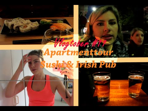 Vlogtober 11 Apartment-Tour, Irish Pub, Sushi
