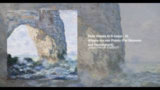 Flute Sonata in G major, Johan Henrik Freithoff