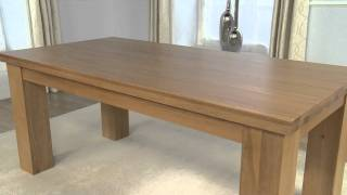 Kentucky Oak Dining Table And Toronto Oak Chairs