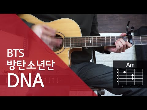 방탄소년단 BTS - DNA guitar chords & lesson (easy mode)