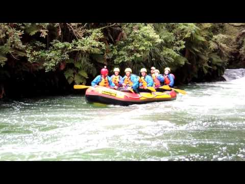 Rafting Kaituna River and the 7 metre falls in New Zealand