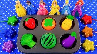 Satisfying Video l How To Make Color Tray Fruit & Disney Princess With Playdoh ASMR #268 Bon Bon