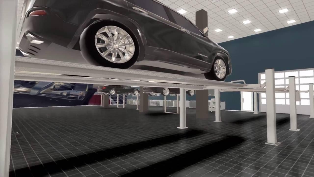 Auto repair shop 3d design youtube for Automotive shop design