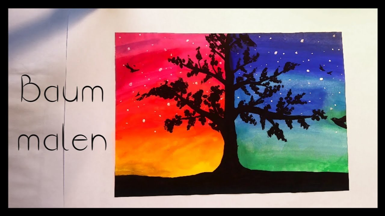 baum malen painting art youtube