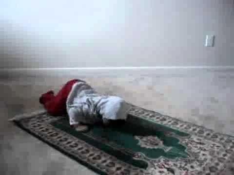 Young Muslim Baby Girl learning Prayer thumbnail