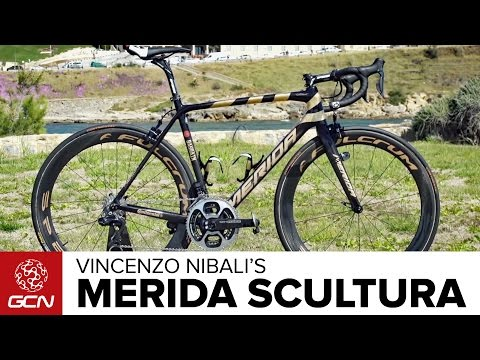"Vincenzo Nibali's Custom Gold ""Centenario"" Merida Scultura"