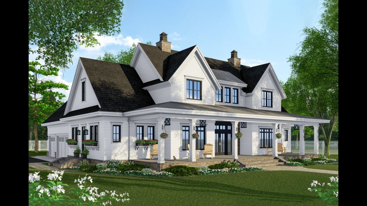 best farmhouse plans architectural designs modern farmhouse plan 14679rk virtual tour youtube 6442