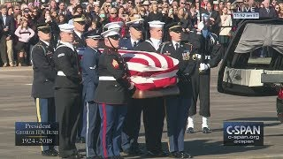 President George H.W. Bush's casket departs Houston, TX (C-SPAN)