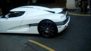 Sheik Hamdan Maktoum of Dubai parking Koenigsegg CCX