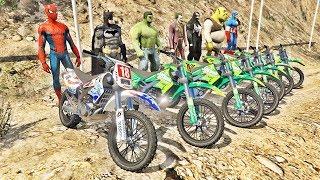HOMEM ARANHA HULK BATMAN E AMIGOS COM MOTOS! DESAFIO MOTOS COM SPIDERMAN QUEM VENCEU? - IR GAMES