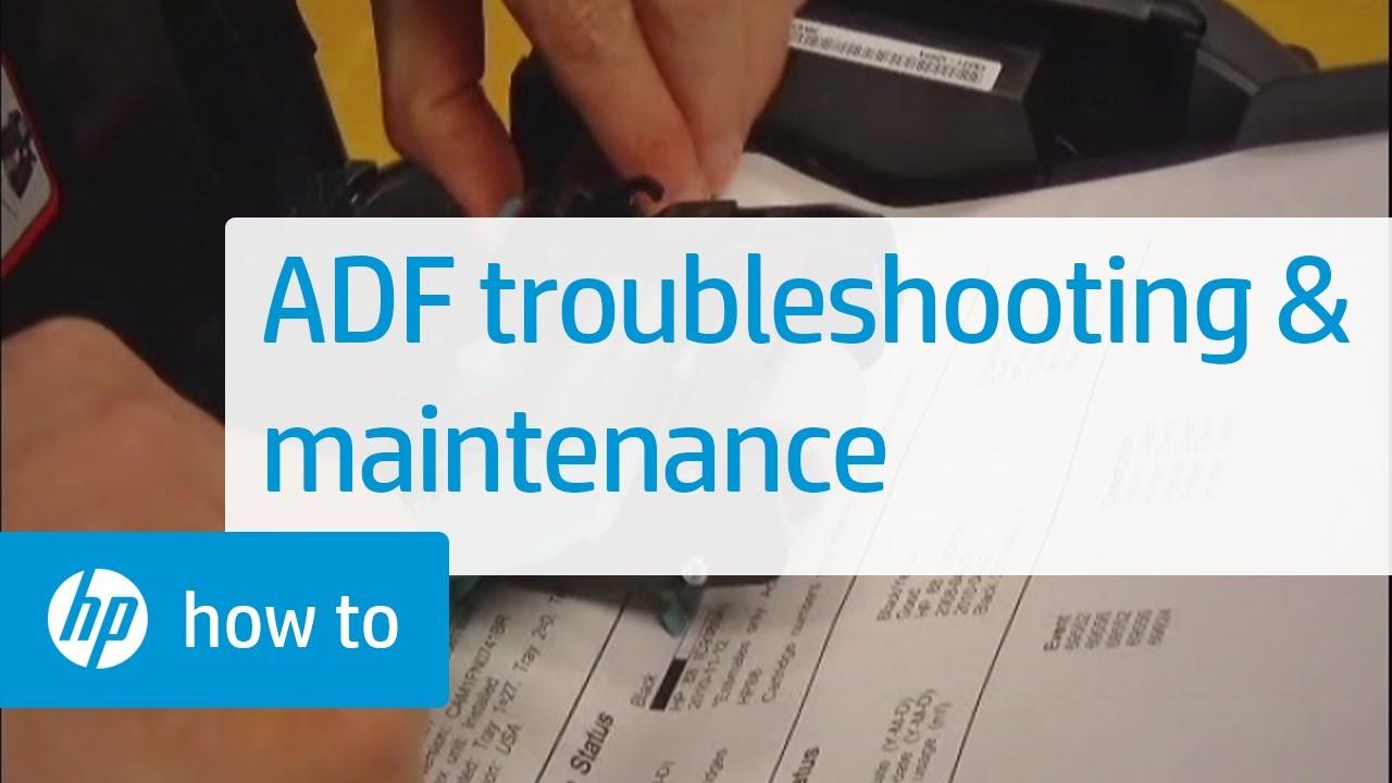ADF Troubleshooting & Maintenance   HP