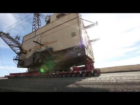 Eight Million Pound Dragline Crosses New Mexico